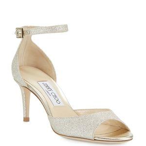 Jimmy Choo Annie Glitter 65mm Sandals - BRAND NEW!